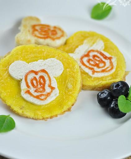 【儿童早餐做法】米奇馒头鸡蛋饼(后附5种凉馒头做法